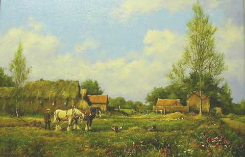 Working Horses - Painting by James Wright