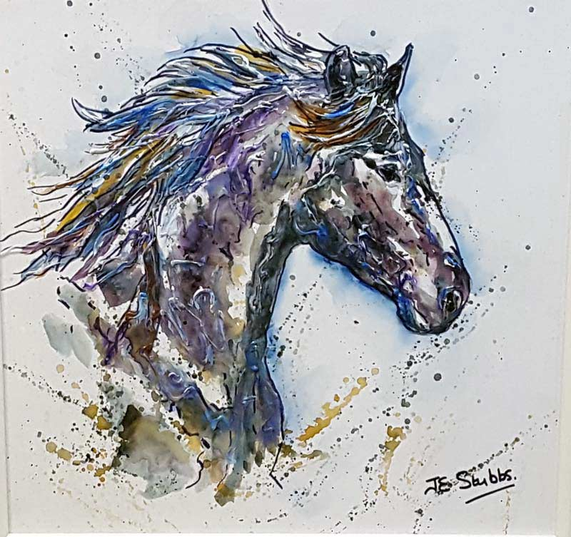 Flying Canter - Painting by Janice Stubbs