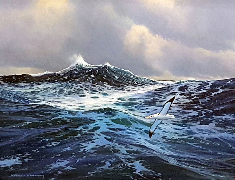 Wild Waves - Painting by Jeff Bradley