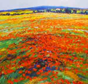 Poppies - Painting by John Bampfield