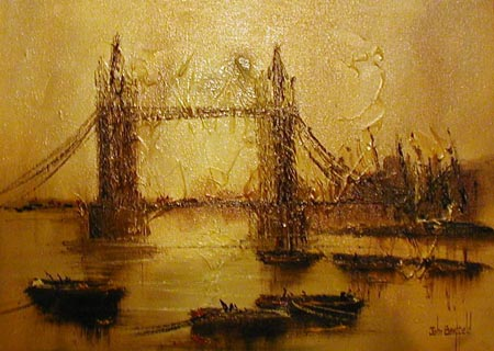 Tower Bridge - Painting by John Bampfield