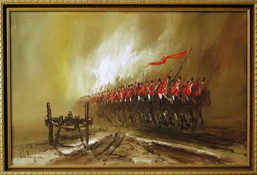 The Thin Red Line - Painting by John Bampfield