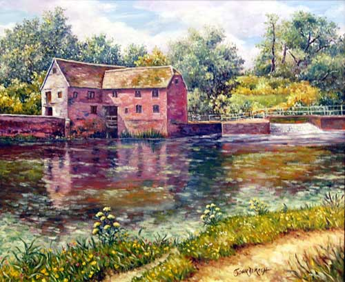 Sturminster Newton Mill - Painting by John Dimech