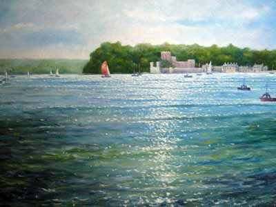 Brownsea and Castle - Painting by John Dimech