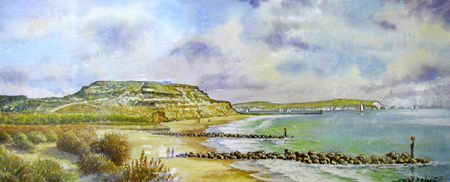 Hengistbury Head - Painting by John Dimech