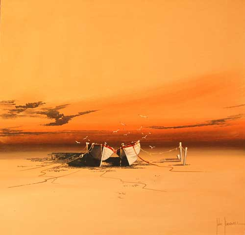 Amber Dawn - Painting by John Horsewell