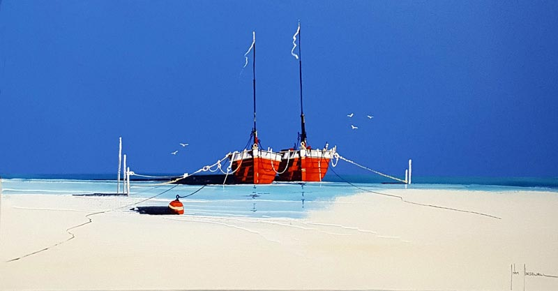 Shallow Harbour - Painting by John Horsewell