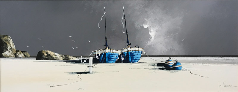 Stormy Seas - Painting by John Horsewell
