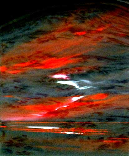 Red Skies - Painting by Jonathan Shaw