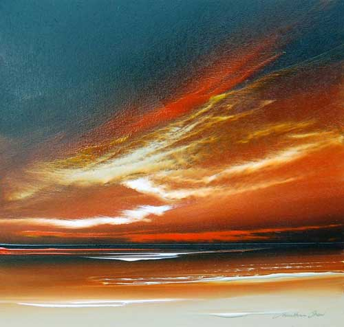 Golden Sunset - Painting by Jonathan Shaw