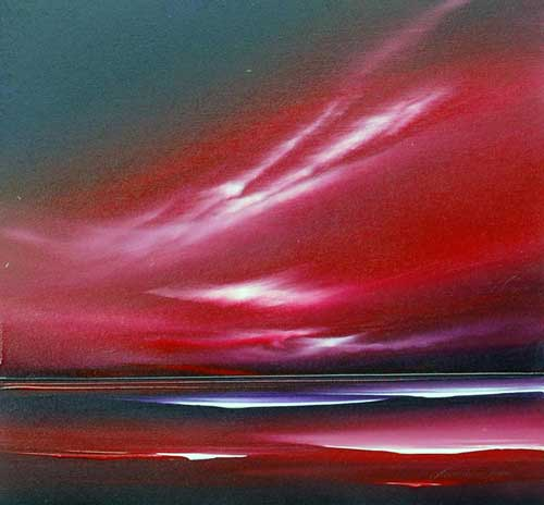 Scarlet Skies - Painting by Jonathan Shaw