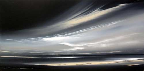 Grey Storm Looming - Painting by Jonathan Shaw