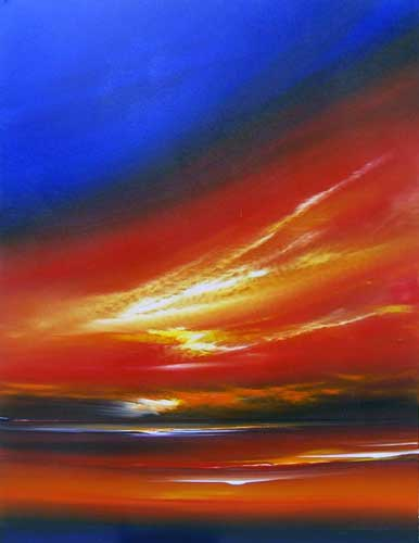 Red on the Horizon - Painting by Jonathan Shaw