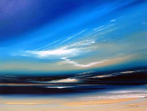 Blue Horizons  - Painting by Jonathan Shaw