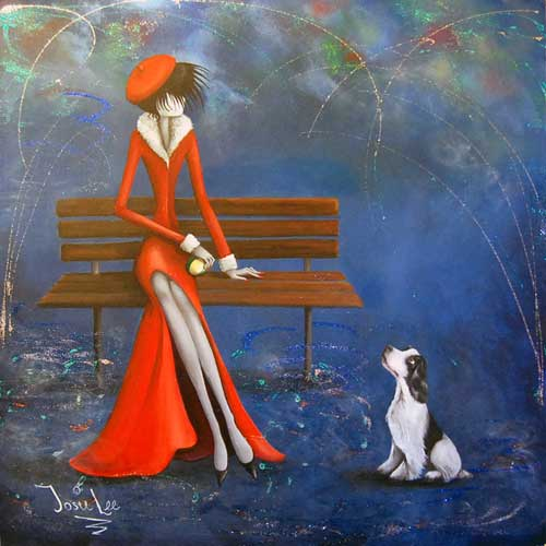Mistress Series - The Waiting Game - Painting by Josie Lee