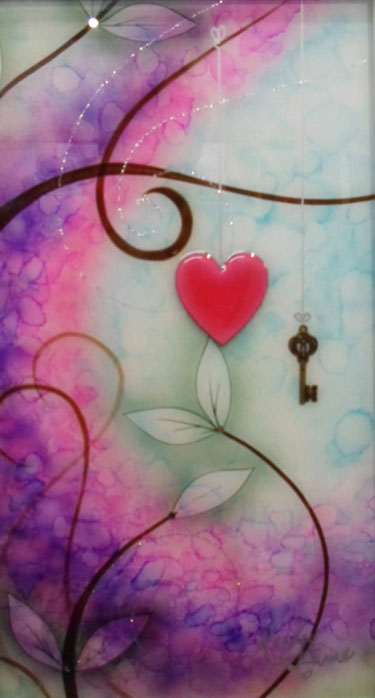 Key to my heart - Painting by Kealey Farmer