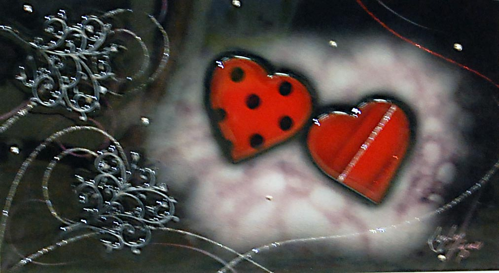 Lady Hearts - Painting by Kealey Farmer