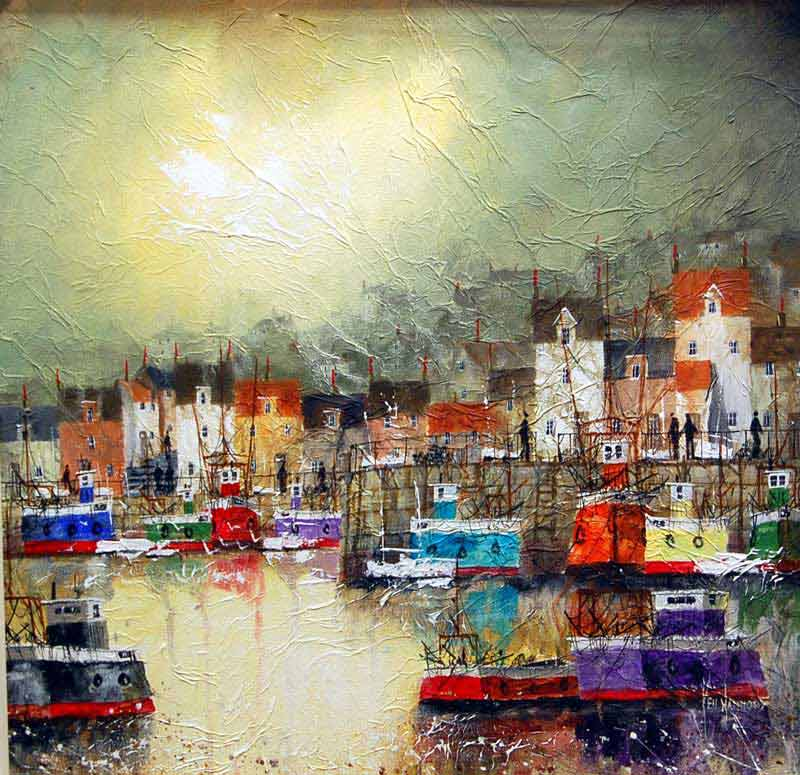 Harbour Lights - Painting by Ken Hammond