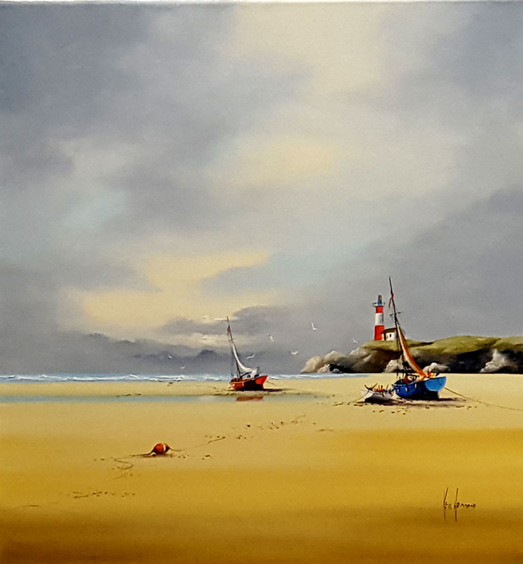 Amber Tides - Painting by Ken Hammond
