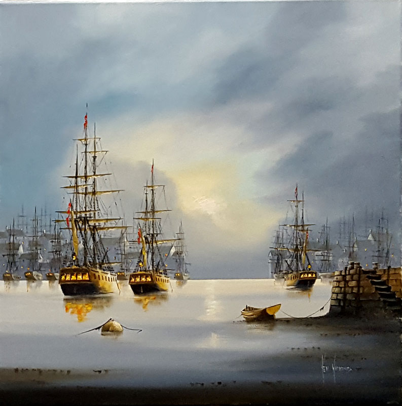 Seas of Glory - Painting by Ken Hammond
