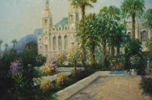 Casino Monte Carlo - Painting by Laszlo Ritter