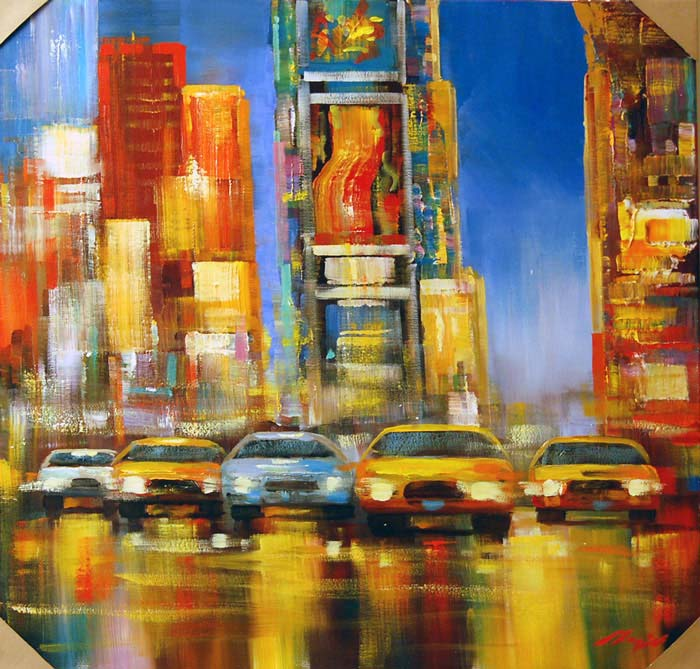 City Lights - Painting by Madjid