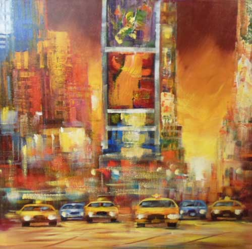 New York - Painting by Madjid