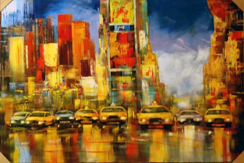 Taxi - Painting by Madjid