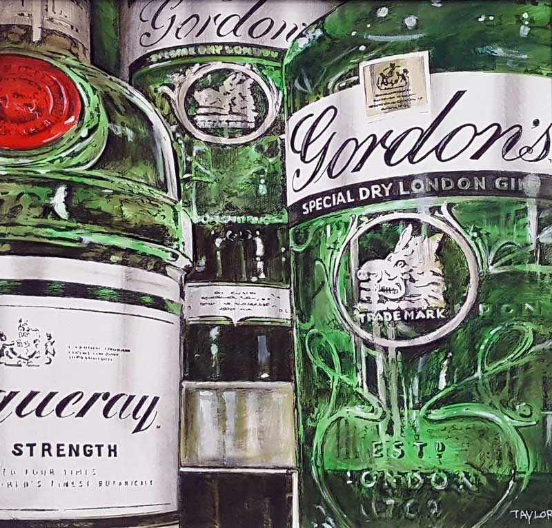 Gordon's Gin - Painting by Martin Taylor