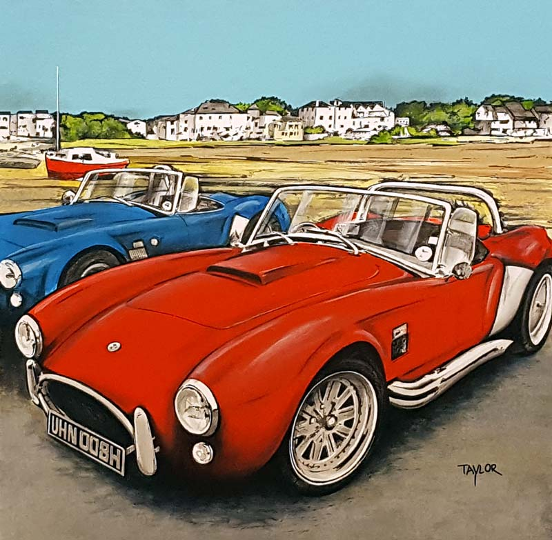 AC Cobra - Painting by Martin Taylor