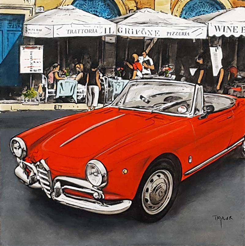Alfa Romeo Spider - Painting by Martin Taylor