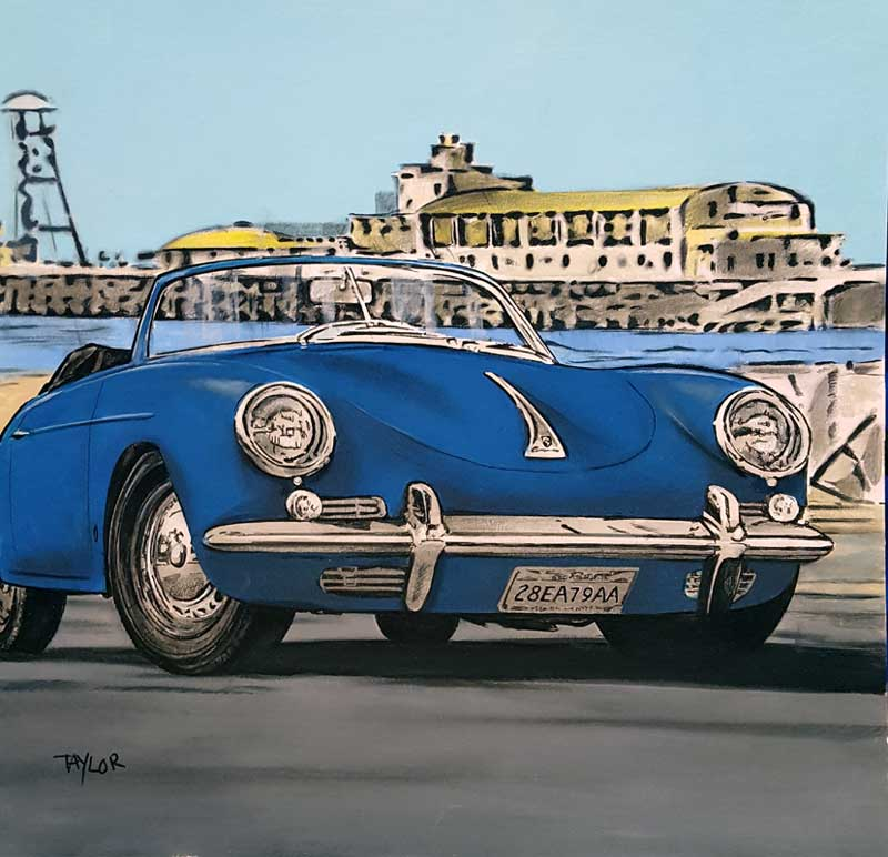 Blue Travels - Painting by Martin Taylor