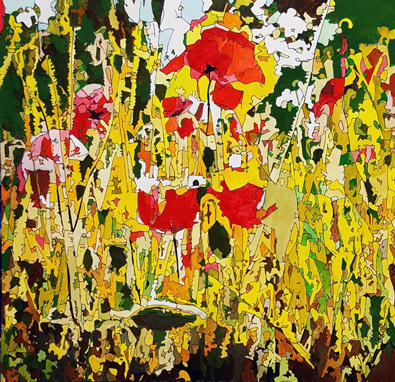 Paint by Flowers - Painting by Martin Taylor