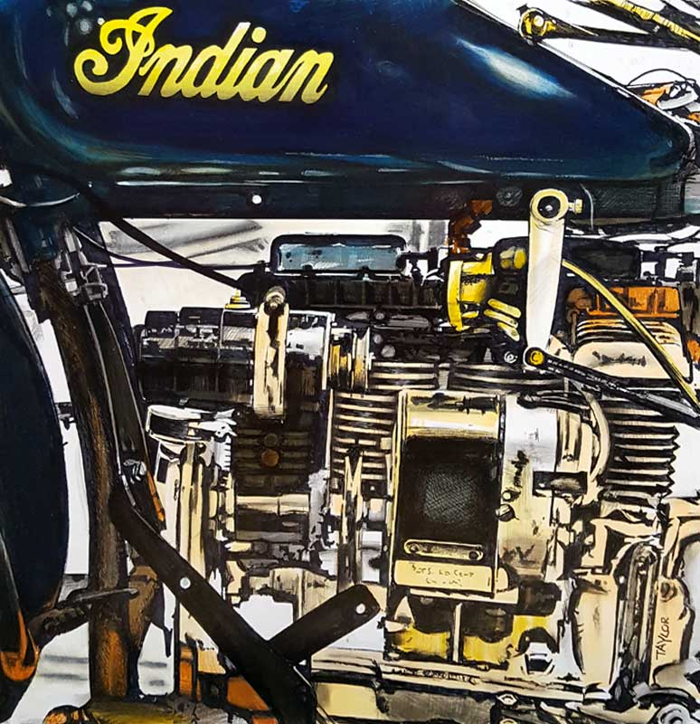 Engine Works - Painting by Martin Taylor