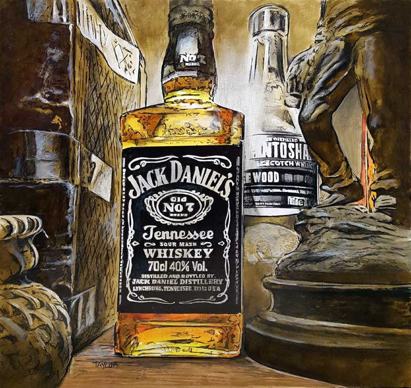 A Fine Nectar - Painting by Martin Taylor