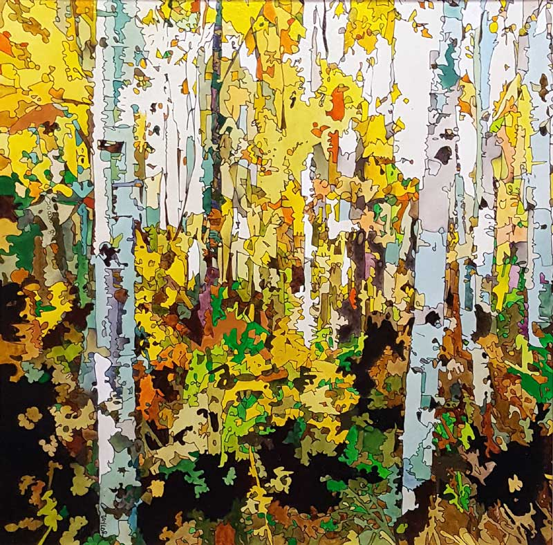 Autumn Grove - Painting by Martin Taylor