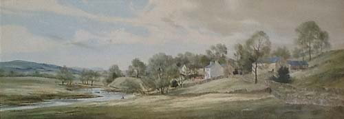 Mum will tell you where to go - Knipe in Cumbria - Painting by Michael Barnfather