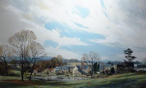 Pond Farm, Monmouthshire - Painting by Michael Barnfather