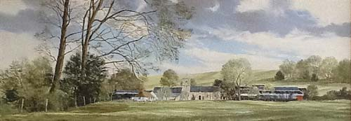 Summer at Copford Church - Painting by Michael Barnfather