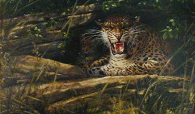 Leopard - Painting by Michael Jackson