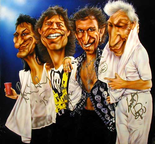 The Rolling Stones - Painting by Mike Charsley