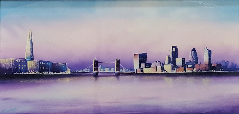 London City Scape - Painting by Miller James