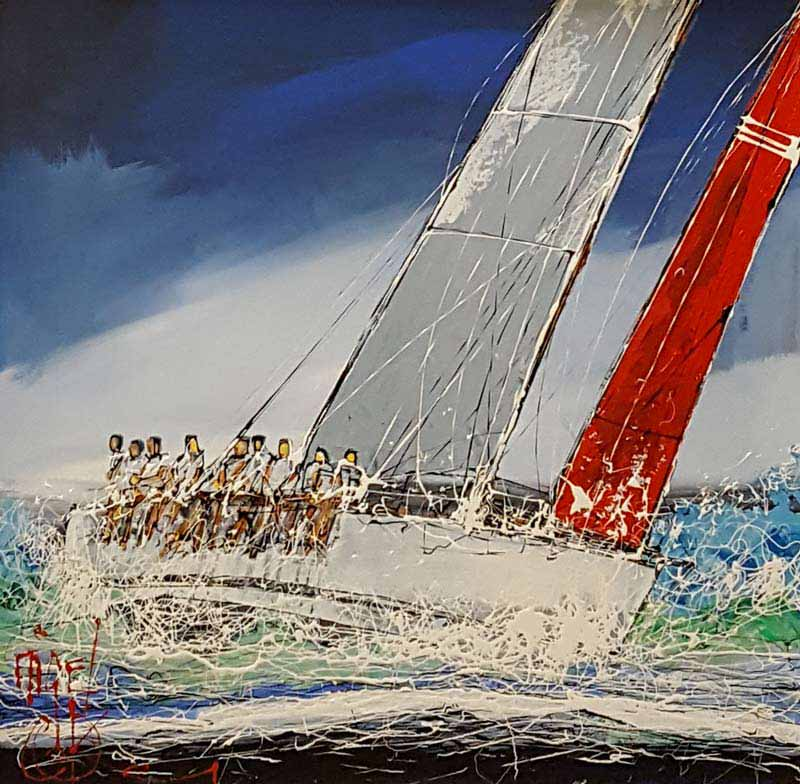 Wind in Their Sails - Painting by Nigel Cooke