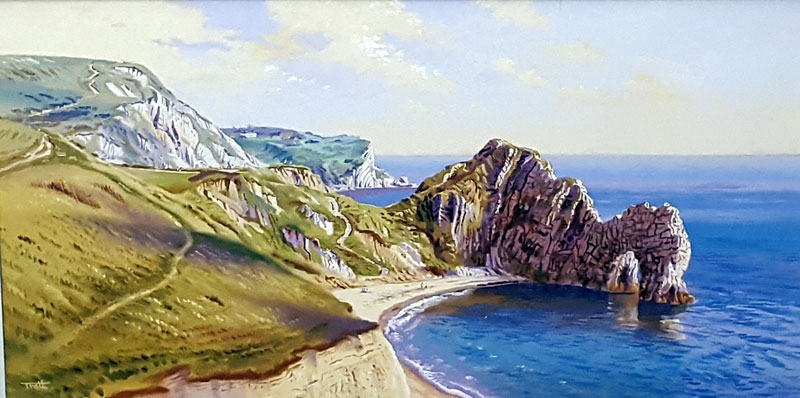 Durdle Door - Painting by Richard Tratt