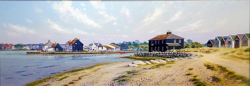 Mudeford Quay - Painting by Richard Tratt