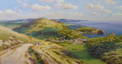 Lulworth Cove - Painting by Richard Tratt