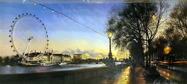 Eye on the Thames - Painting by Rob Hefferan