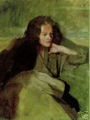 'Anna at the house watching television' by Robert Lenkiewicz
