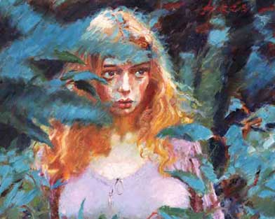 Tessa Through the Blue Gums - Painting by Rolf Harris