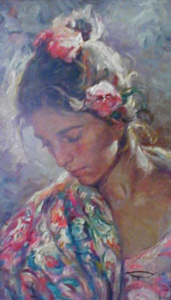 Girl - Painting by Royo